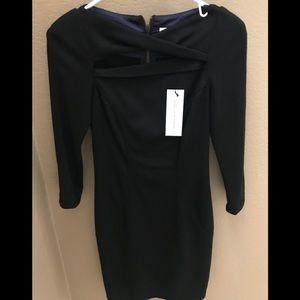 DIANE VON FURSTENBERG black dress NEW w TAGS